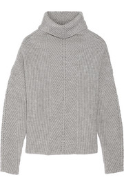 Matignon oversized ribbed-knit turtleneck sweater
