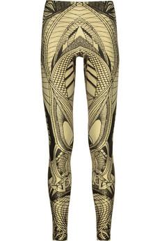 Alexander McQueen|Lace-print leggings|NET-A-PORTER.COM