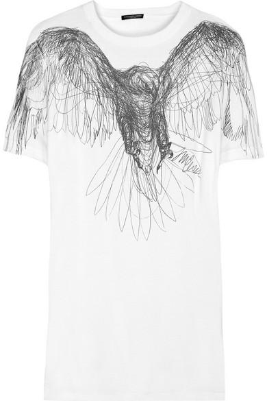 9ba90200 Alexander McQueen | Eagle-print T-shirt | NET-A-PORTER.COM