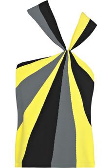Alexander McQueen|Spiral-print crepe-jersey top|NET-A-PORTER.COM from net-a-porter.com