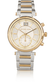 Sawyer gold and silver-tone watch