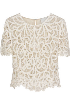 3.1 Phillip Lim Embroidered lace top