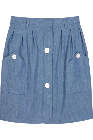 A.P.C. | A-line denim skirt | NET-A-PORTER.COM