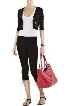 Juicy CoutureLace-up denim leggings
