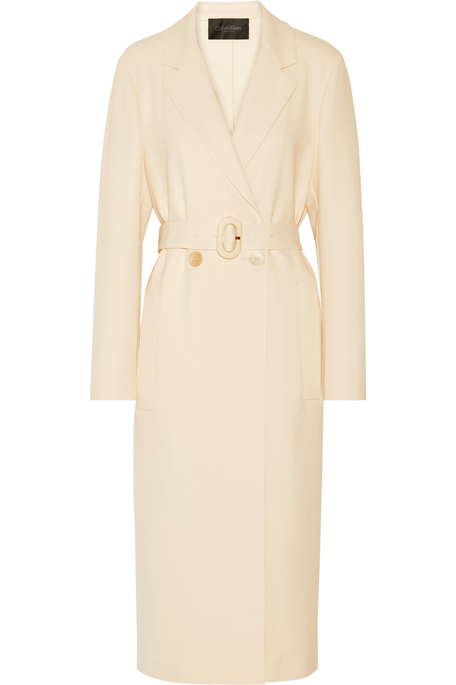 Stretch-Crepe Trench Coat, Calvin Klein Collection, Beige, Women's, Size: 42