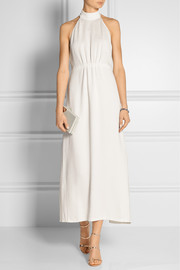 Calvin Klein Collection Halterneck textured-cady gown