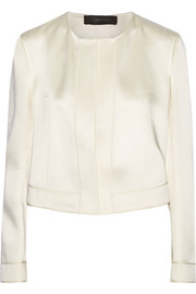 Satin-crepe jacket