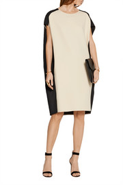 Calvin Klein Collection Two-tone stretch-crepe dress