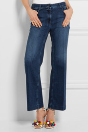 Calvin Klein Collection High-rise wide-leg jeans