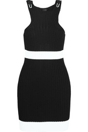Winslow striped ribbed-knit dress