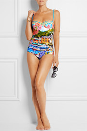 Portofino printed swimsuit