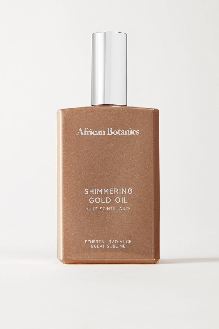 African Botanics Marula Shimmering Gold Oil, 100ml