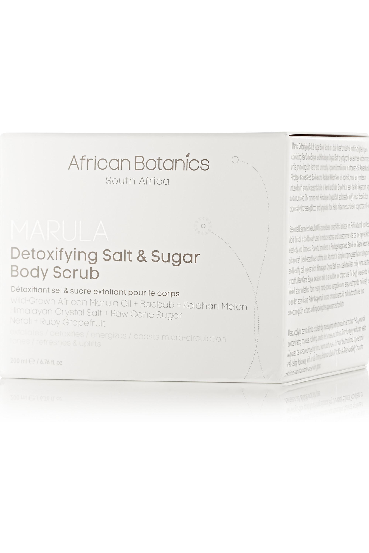 African Botanics Marula Detoxifying Salt and Sugar Body Scrub, 200ml
