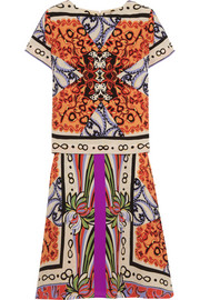 Veronica layered printed silk dress
