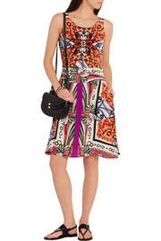 Veronica two-piece printed silk dress