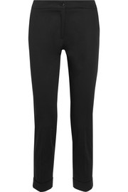 Sigaretta cropped piqué straight-leg pants