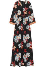 Etro Embellished floral-print silk maxi dress
