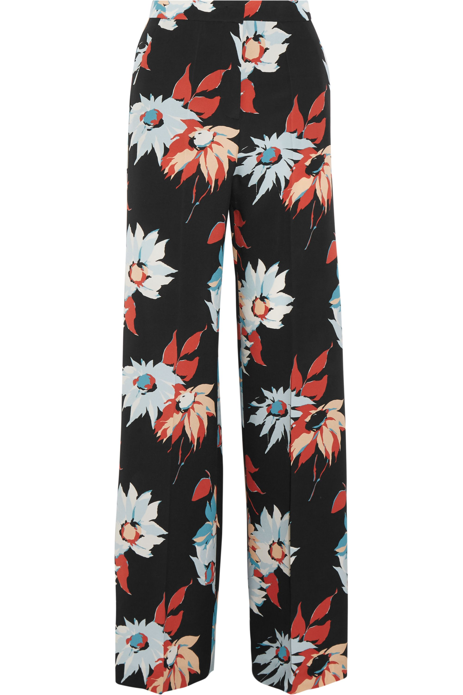 Etro Floral-print silk wide-leg pants