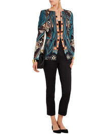 Printed crepe jacket