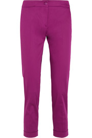 Etro Sigaretta cropped stretch-satin straight-leg pants
