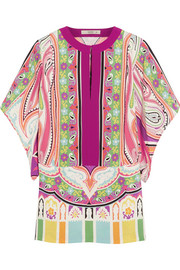 Etro Printed stretch-silk blouse