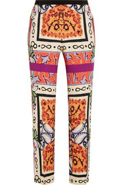 Printed crepe tapered pants