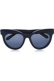 Starburst cat-eye acetate sunglasses