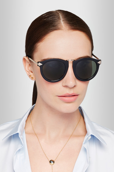 d9a65240879 Karen Walker. Harvest Superstars round-frame acetate sunglasses
