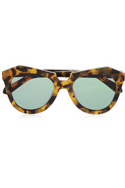 Number One round-frame tortoiseshell acetate sunglasses