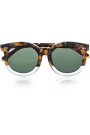 Super Duper Thistle round-frame acetate sunglasses