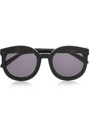 Super Duper Strength round-frame acetate sunglasses