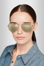 Drop Top aviator-style gold-tone mirrored sunglasses