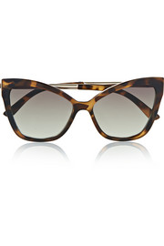 Naked Eyes tortoiseshell acetate cat-eye sunglasses