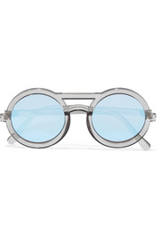 Radio Star round-frame acetate sunglasses