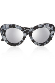 Go Go Go cat-eye acetate mirrored sunglasses