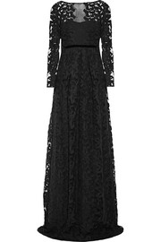 Burberry Prorsum Embroidered cotton-blend tulle gown