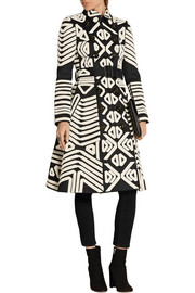 Burberry Prorsum Crochet-appliquéd cotton trench coat
