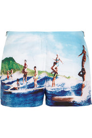 Whippet printed woven boardshorts