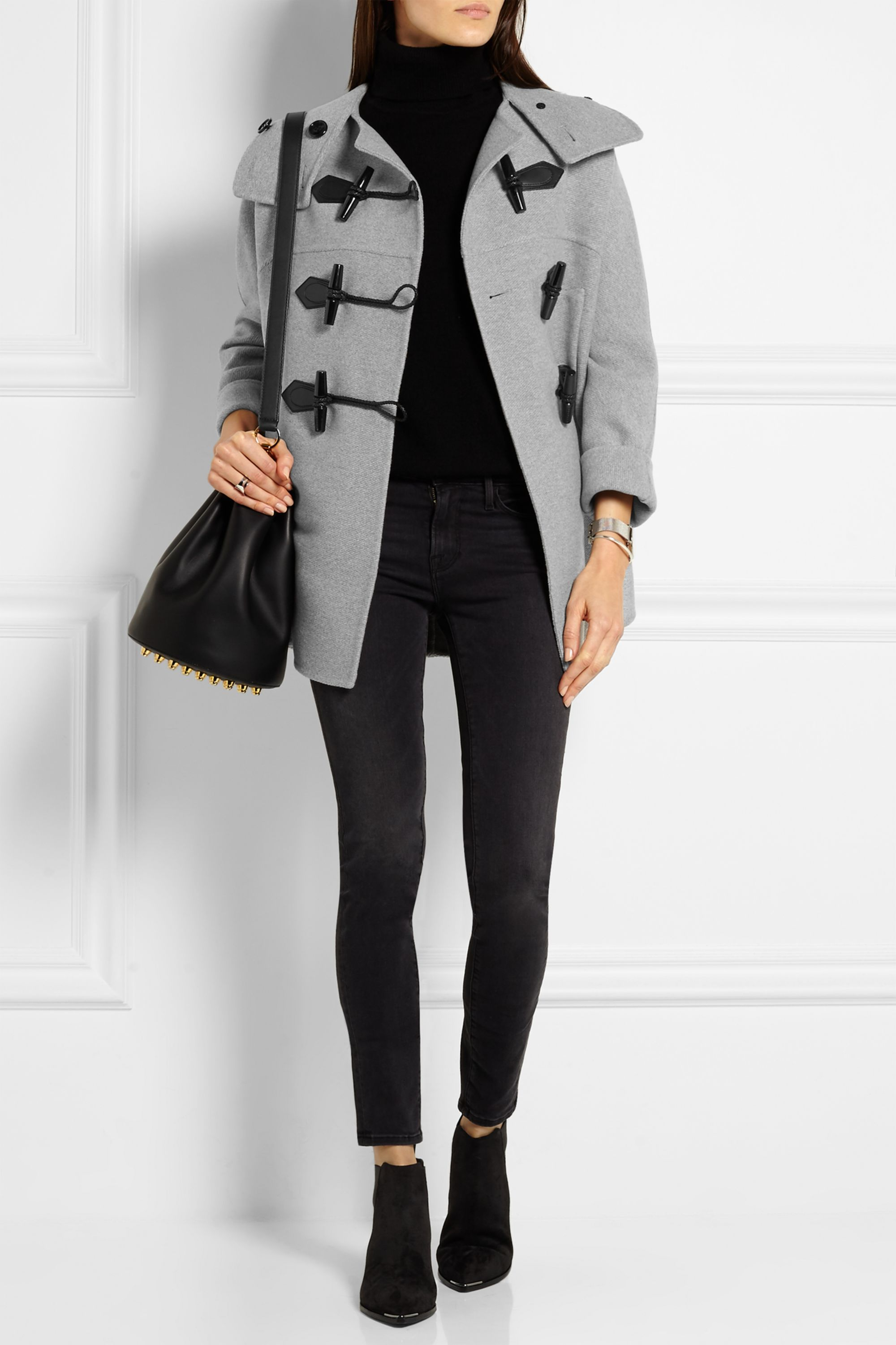 Wool Blend Duffle Coat by Burberry
