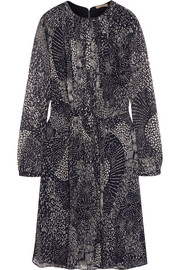 Burberry Brit Printed silk-chiffon mini dress