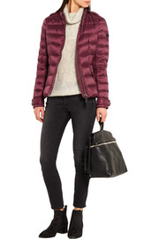 Burberry Brit Leather-trimmed quilted shell down jacket