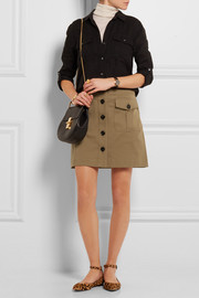 Burberry Brit Stretch-cotton twill mini skirt