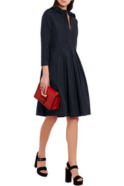 Burberry London Pleated cotton-twill dress