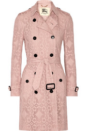 The Kensington crocheted cotton-blend trench coat