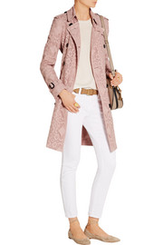 Burberry London The Kensington crocheted cotton-blend trench coat