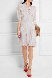 Burberry London Pleated silk-georgette dress