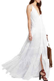 Broderie anglaise cotton-voile gown