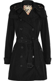 Burberry Brit Balmoral Packaway hooded shell trench coat