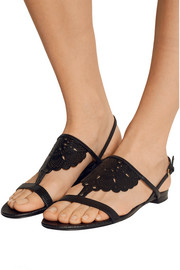 Burberry Prorsum Laser-cut leather sandals