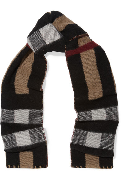 97f6031868b Burberry. London reversible checked wool and cashmere-blend scarf